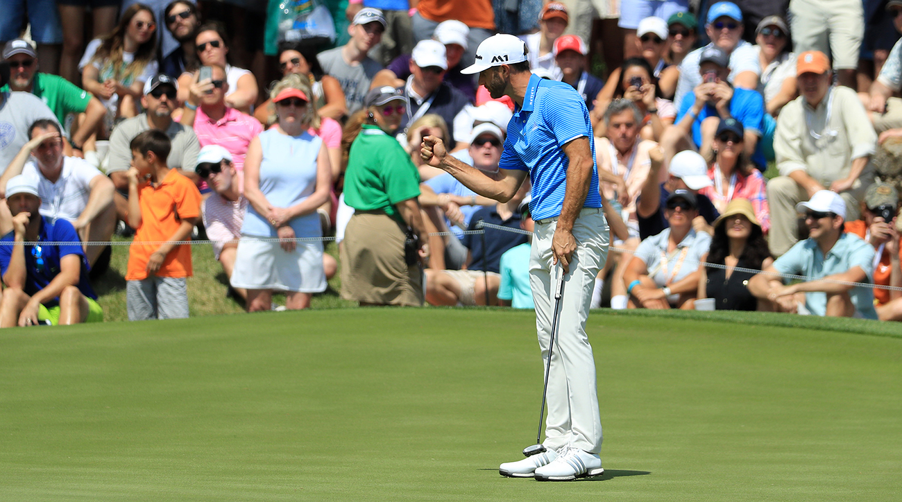Dustin Johnson made it three straight wins by beating Jon Rahm in the championship of the WGC-Dell Match Play on Sunday in Austin.