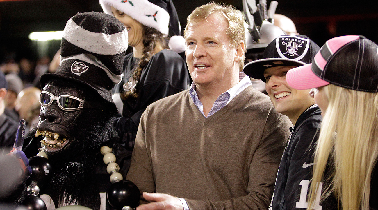 Roger Goodell experienced the Black Hole firsthand in 2012 and knows what the NFL will be leaving behind in Oakland.