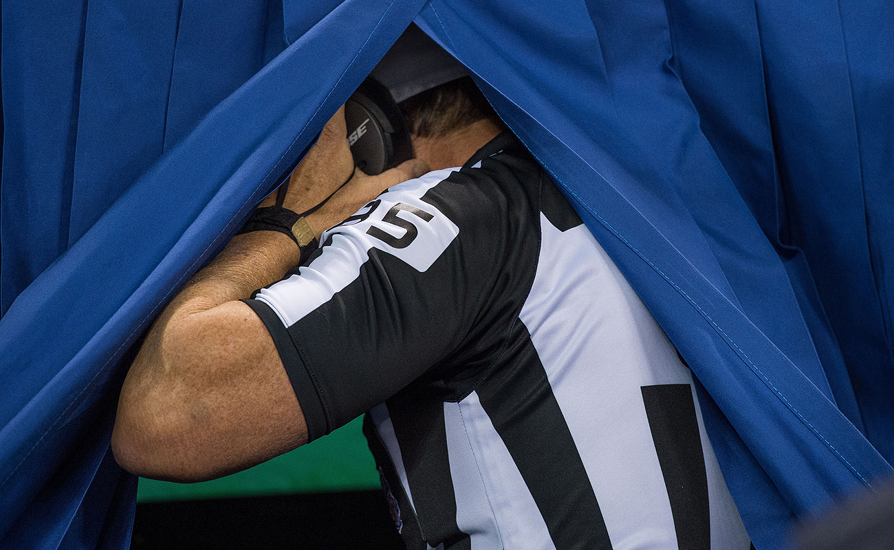 If the NFL has its way, referees heading under the hood for replay reviews will be a thing of the past.