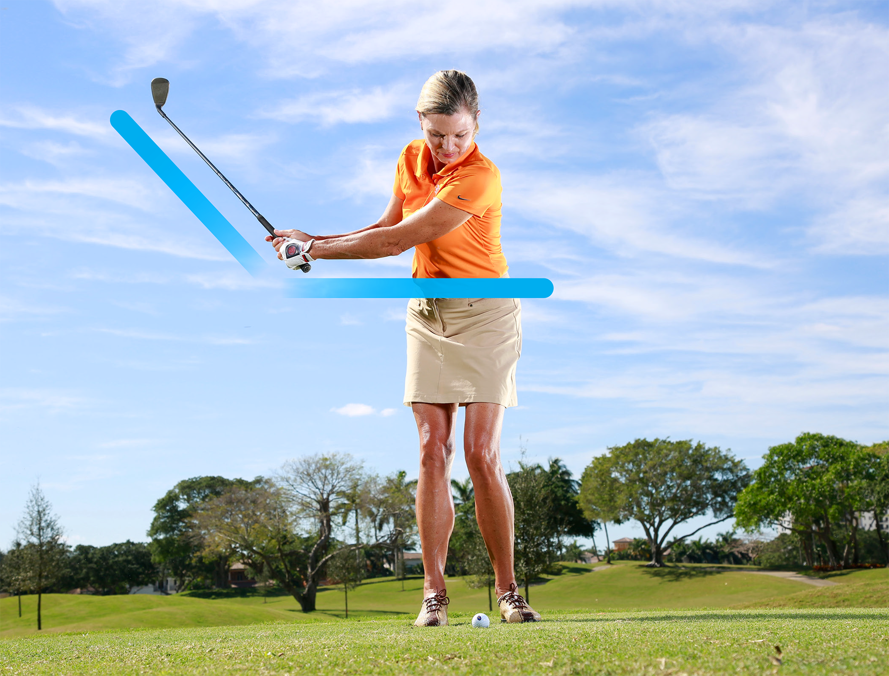 Your new punch shot backswing.