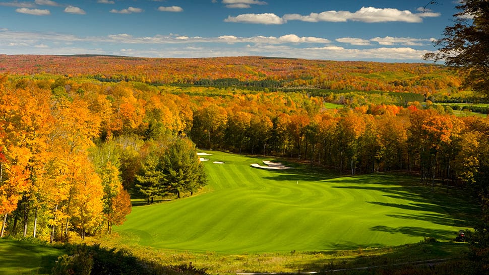 Where: Petoskey, Michigan The deal: Great Escape Golf Vacation Price: $895 per person When: May 7-September 15 How: Call 844-634-5315 or visit boyne.comAbout: The package includes five nights stay at Boyne Highlands Resort or Boyne Mountain Resort, daily breakfast and dinner, and unlimited golf on seven of Boyne's courses.Book Now