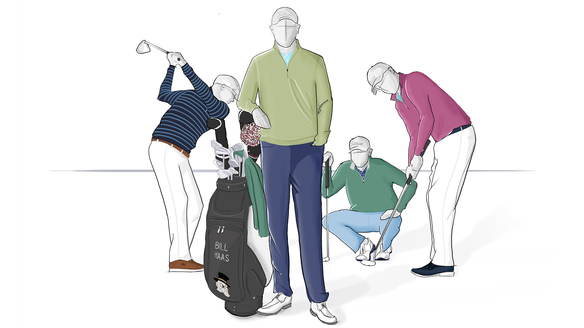 "Bill Haas will sport Peter Millar's new colors for spring 2017 and the brand's signature performance pants. From $85. <p><a class=""standard-button"" href=""https://www.petermillar.com/c/at-the-majors-bill-haas#?offset=0&limit=12"" target=""_blank"">Buy It Now</a></p>"