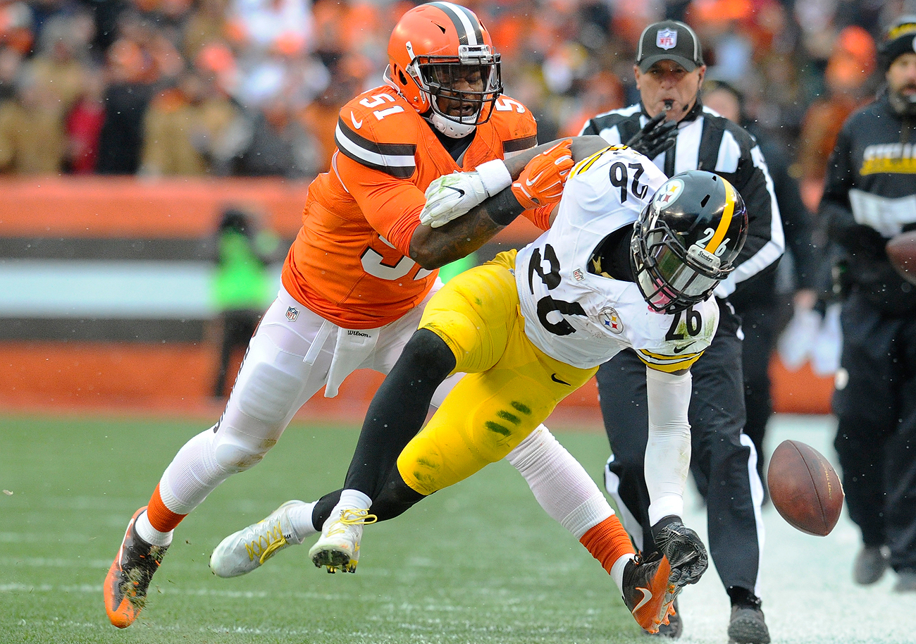 The Browns traded for linebacker Jamie Collins during the 2016 season, a turning point in the team's roster overhaul.