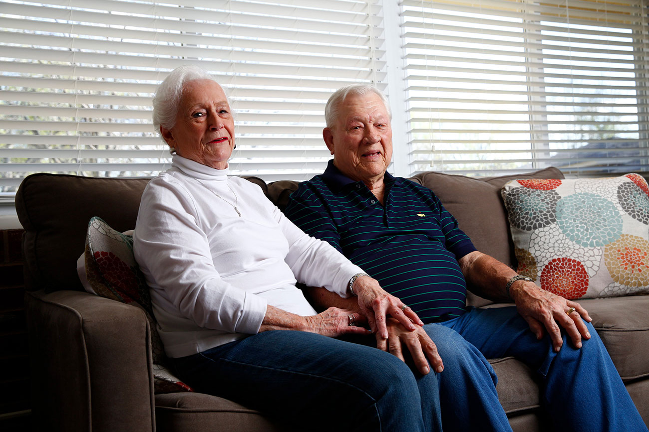 Shurley alongside Ann, his wife of 68 years.