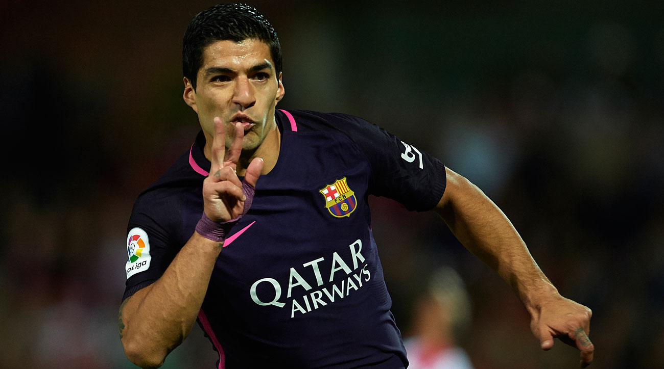 Luis Suarez starred for Barcelona in the absence of Lionel Messi