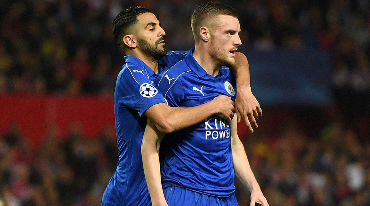 Leicester City's Riyad Mahrez and Jamie Vardy could star vs. Sunderland