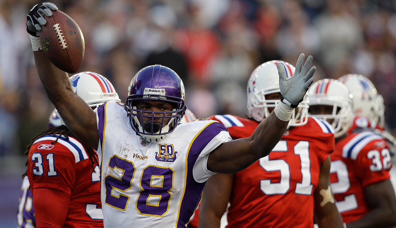 Adrian Peterson last visited Foxboro in 2010. The free agent RB reportedly will be there again Monday.