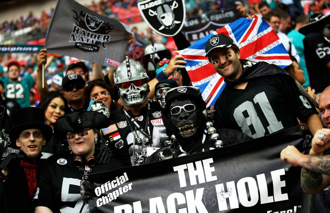 The Raiders—and their fans—traveled to London in 2014. Return trips in coming seasons would seem to make sense.