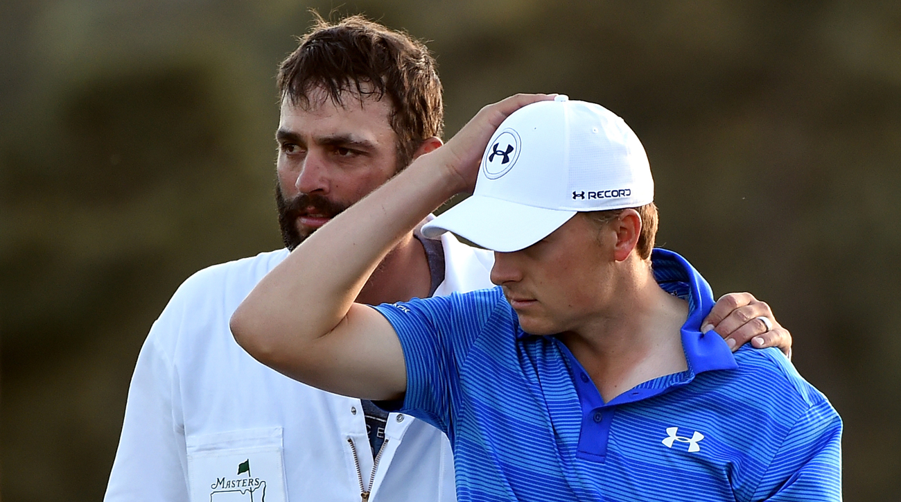 Jordan Spieth's 2016 Masters will be remembered at least in part with emotional images following his surrendering a four-stroke lead.
