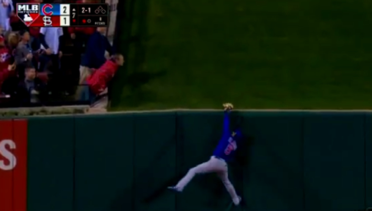 Watch: Albert Almora robs Cardinals of game-tying home run ...