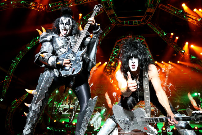 Gene Simmons (l.) and Paul Stanley.