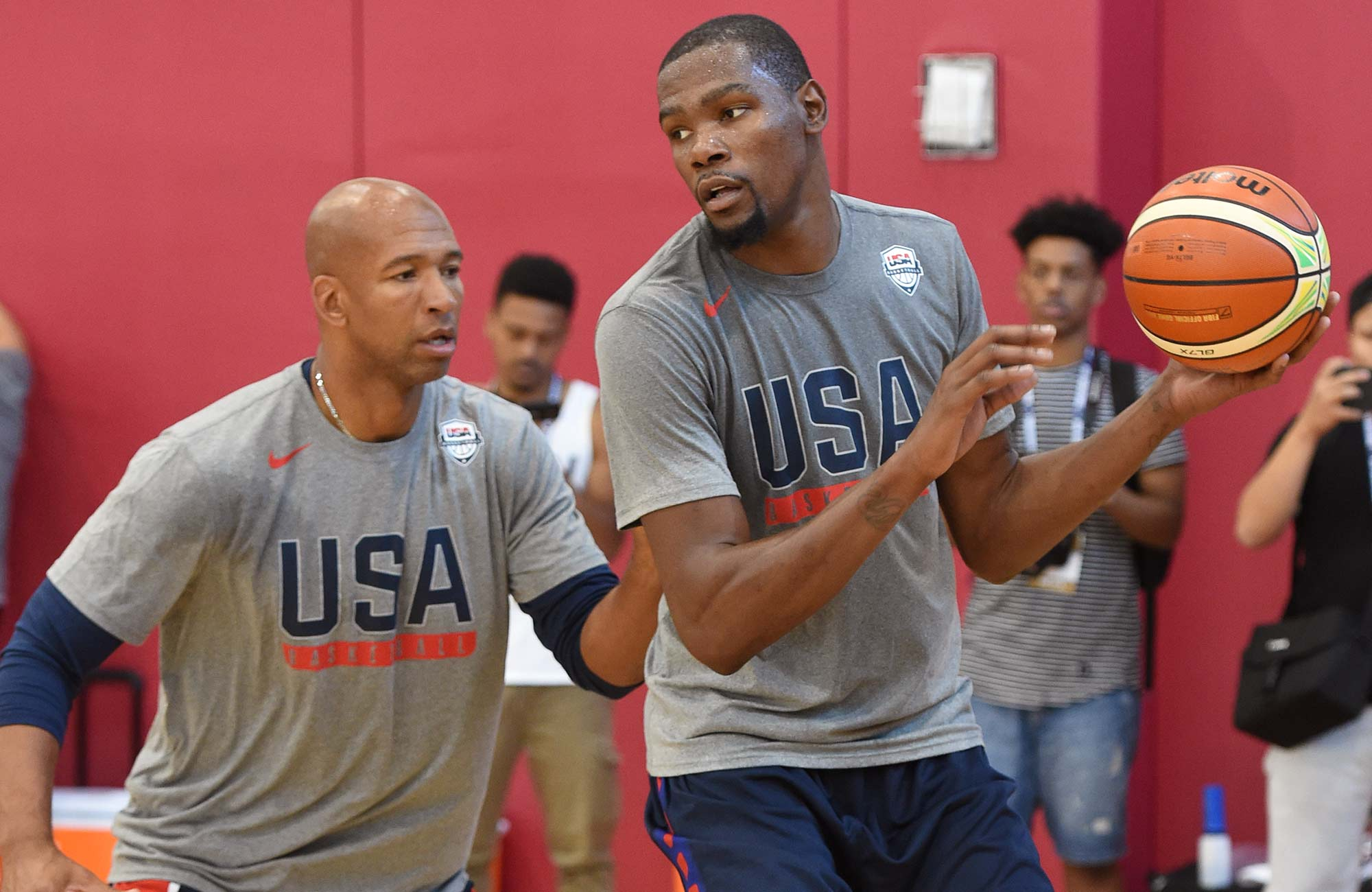 Monty Williams and Kevin Durant