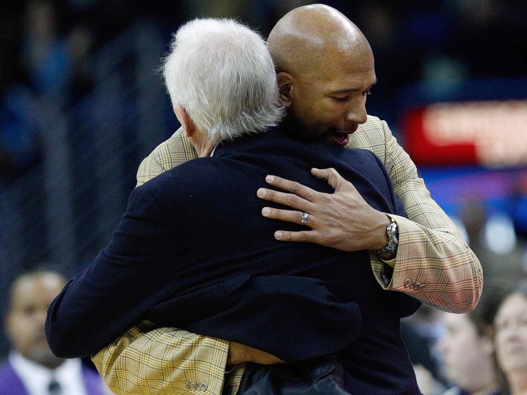 Monty Williams and Gregg Popovich