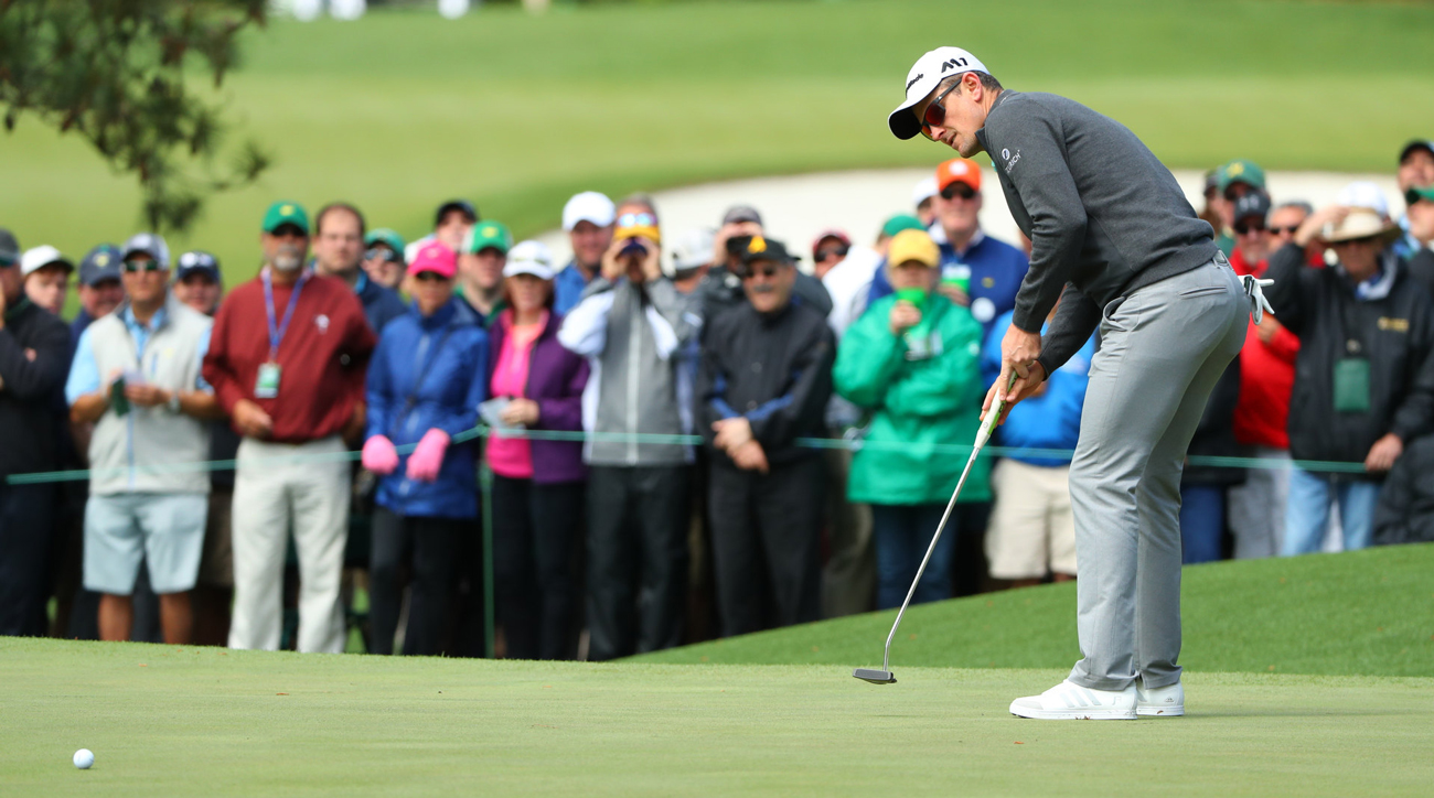 Justin Rose lurks just six shots back from 18-hole leader Charley Hoffman.