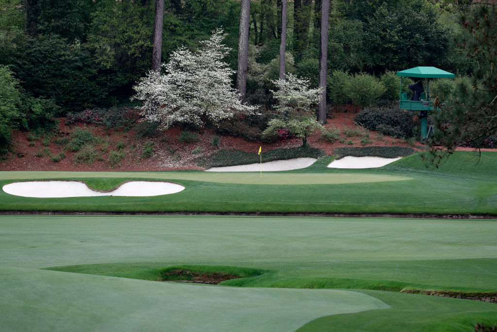 A view of the 12th hole at Augusta National earlier this week.