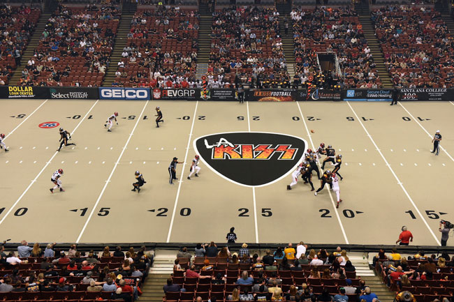 The Honda Center wasn't full for the KISS's opener against Jacksonville.