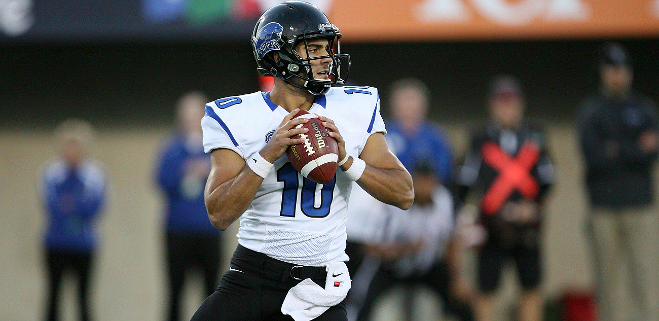 Jimmy Garoppolo played at Eastern Illinois from 2010 to 2013 and broke school passing records previously owned by Tony Romo and Sean Payton.
