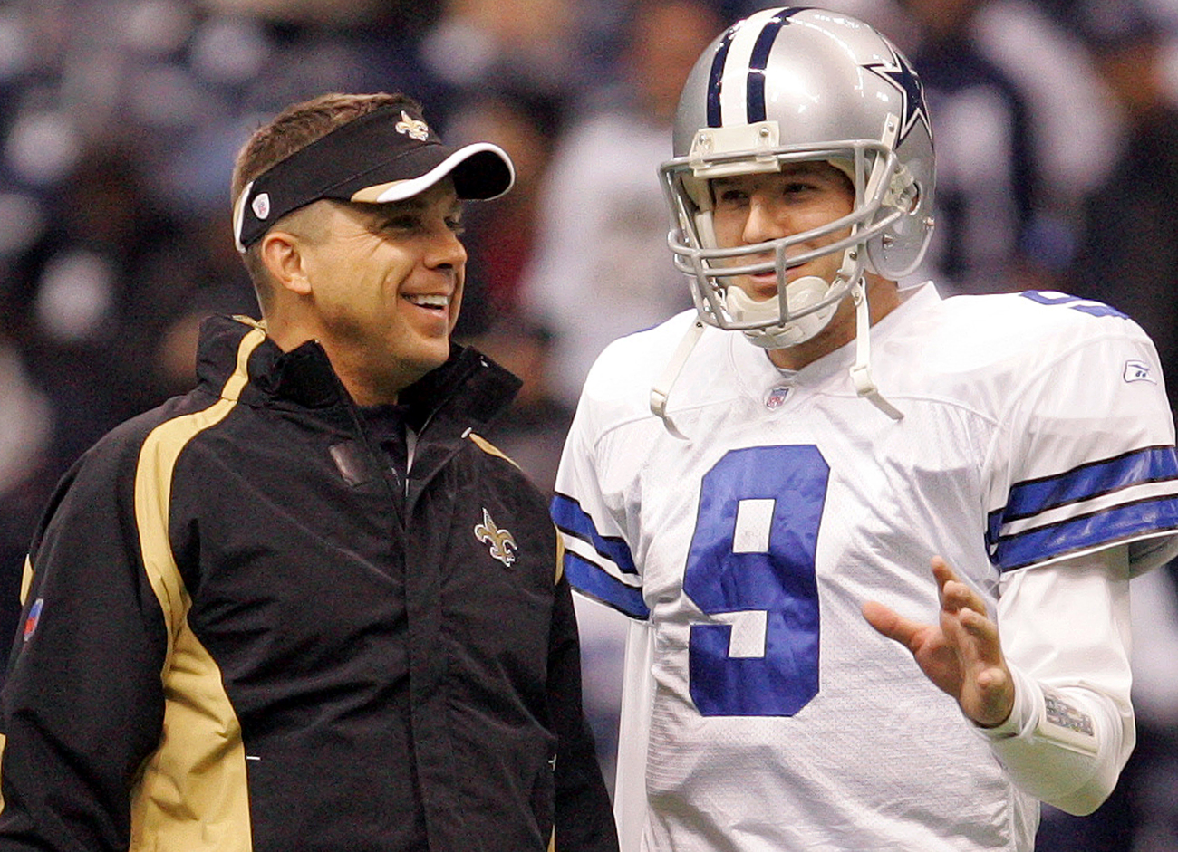 Romo shares a unique relationship with Saints coach Sean Payton, who served as Cowboys quarterback coach when the team drafted him.