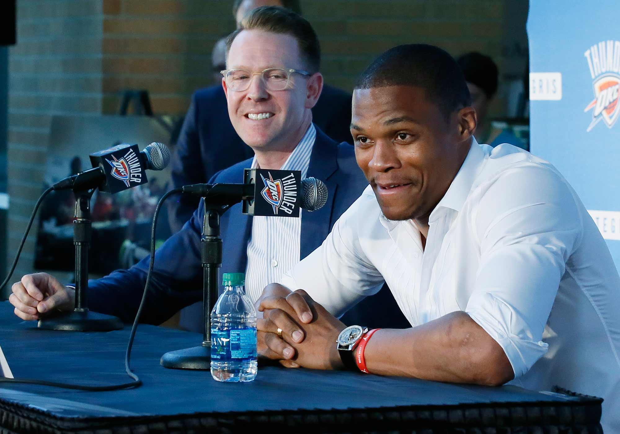 Sam Presti and Russell Westbrook