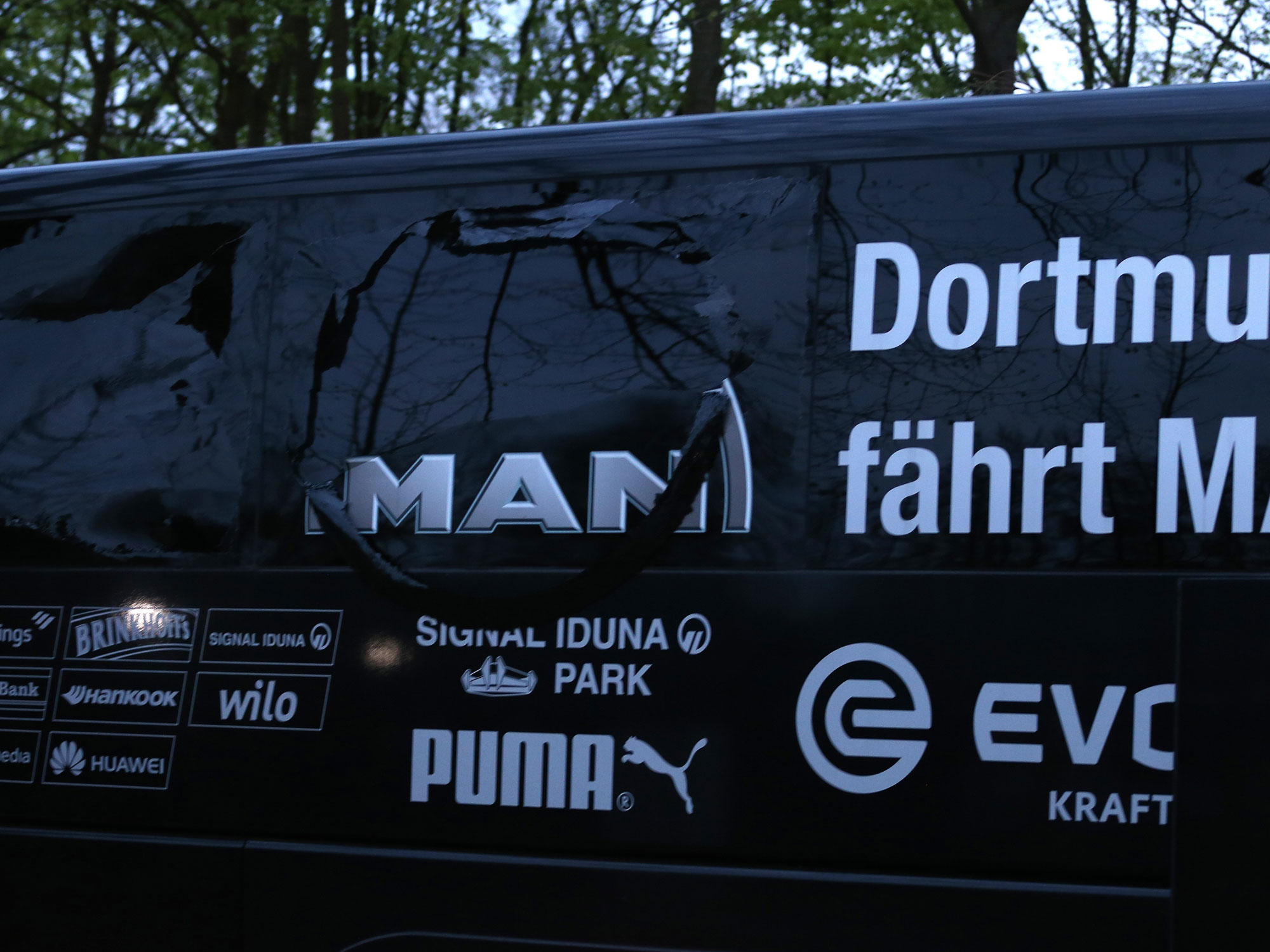 Borussia Dortmund's bus was involved in an explosion