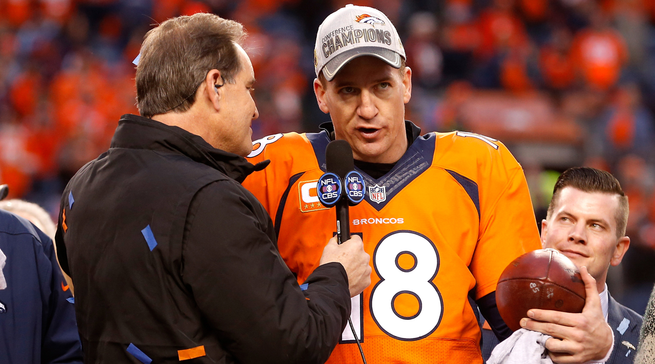 A Jim Nantz-Peyton Manning booth on CBS? Networks have pursued the retired quarterback but so far he's not interested.