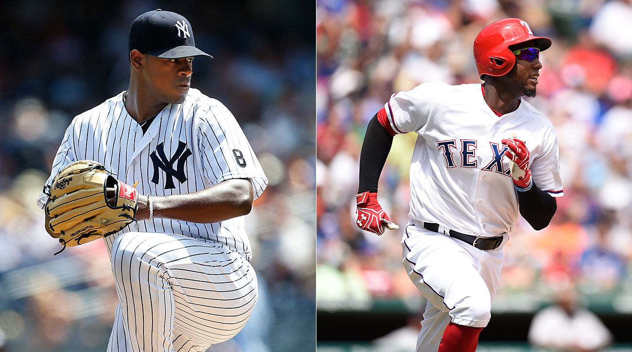 Luis Severino, New York Yankees, Jurickson Profar, Texas Rangers
