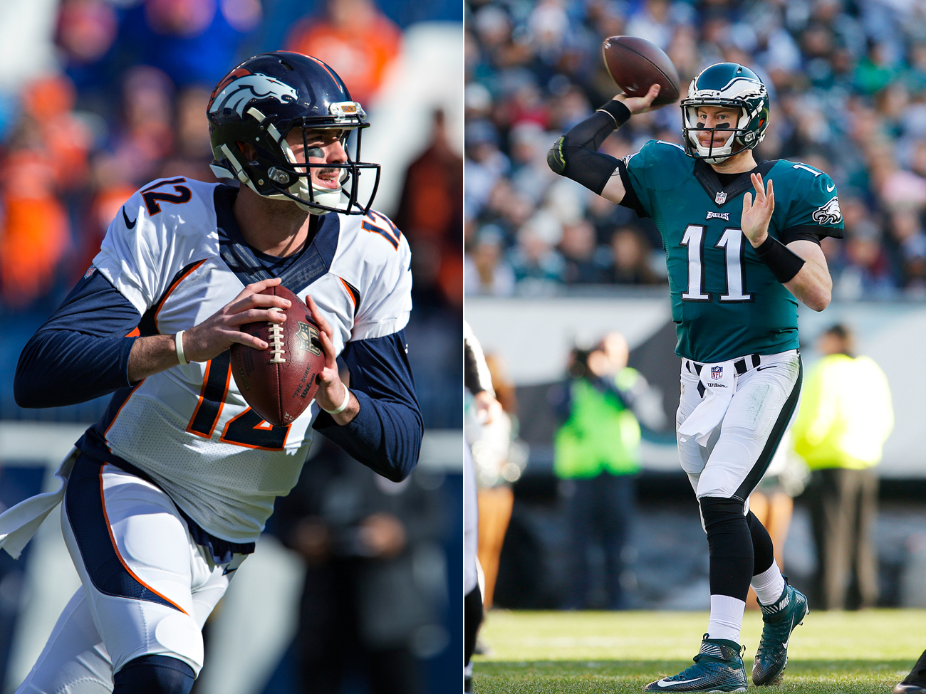 The Broncos will give Paxton Lynch the chance to win the job, while the Eagles want to see more leadership from Carson Wentz.