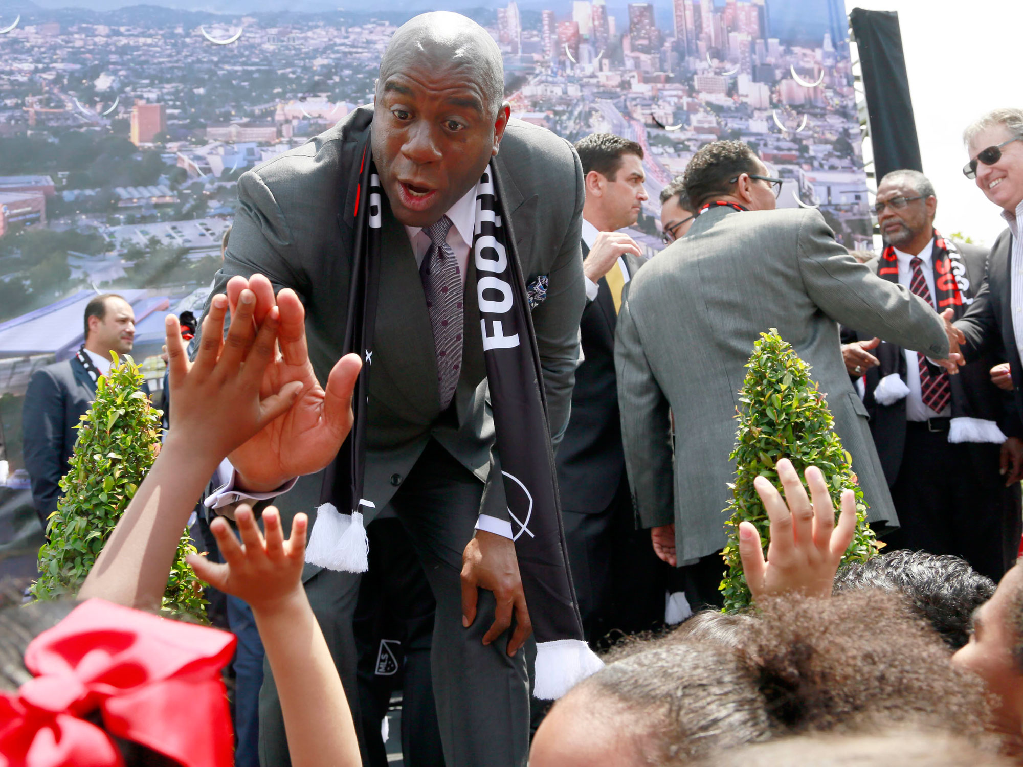 Magic Johnson is part of LAFC's ownership group