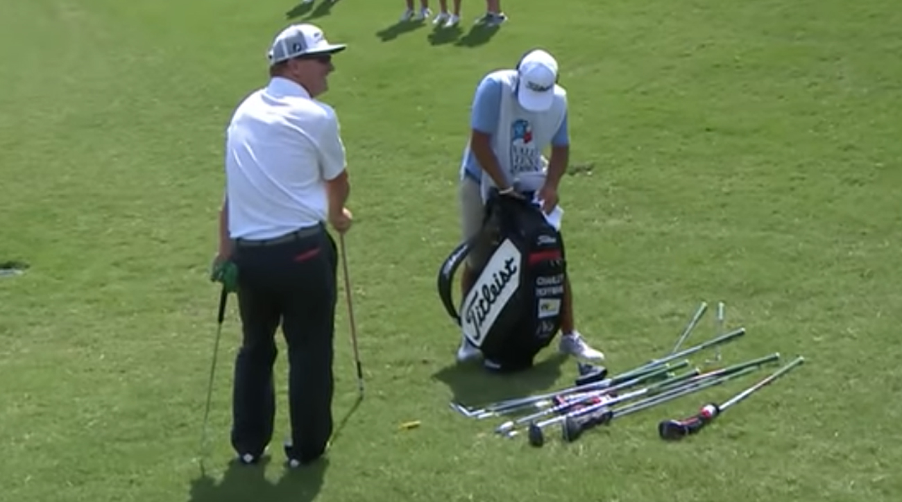 Hoffman's melted chocolate bar is probably the oddest reason for delay on the PGA Tour this season.