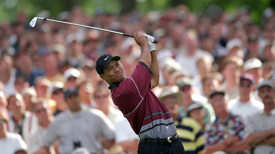 Tiger Woods at the 1999 PGA Championship.