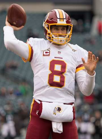 Kirk Cousins played on a one-year contract in 2016 and will do it again in 2017; the combined total salary for both seasons is nearly $44 million.