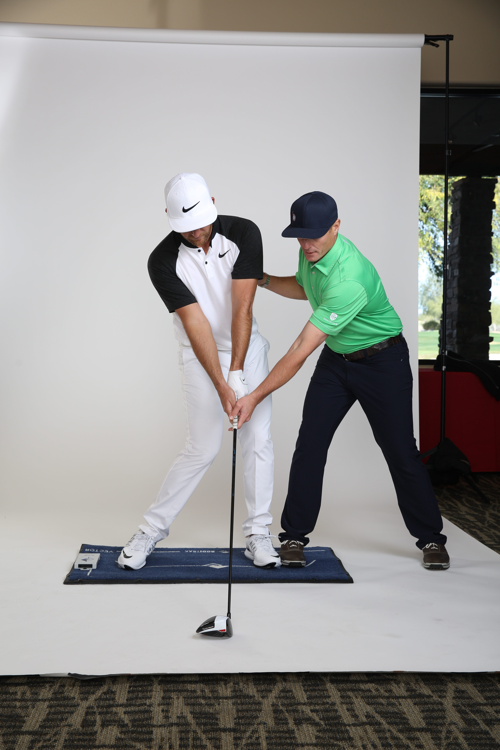 Chappell and Blackburn pose for the May 2017 GOLF Magazine cover story.