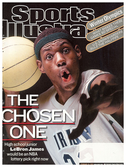 In 2002, LeBron James was