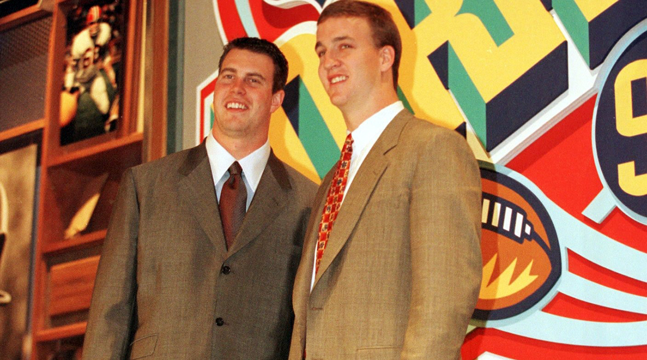 As the 1998 NFL draft approached, it became clear that Leaf (left) and Peyton Manning's NFL careers would always be linked together.