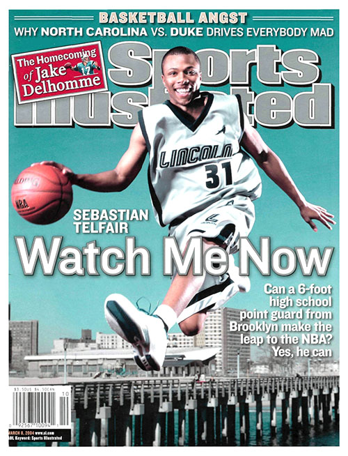 Sebastian Telfair would not have quite the same NBA success as the last high school basketball player to grace the cover of the magazine, but he was still a huge high school superstar as a teenager in New York. He jumped straight to the NBA, where he played for 10 seasons as a journeyman point guard.