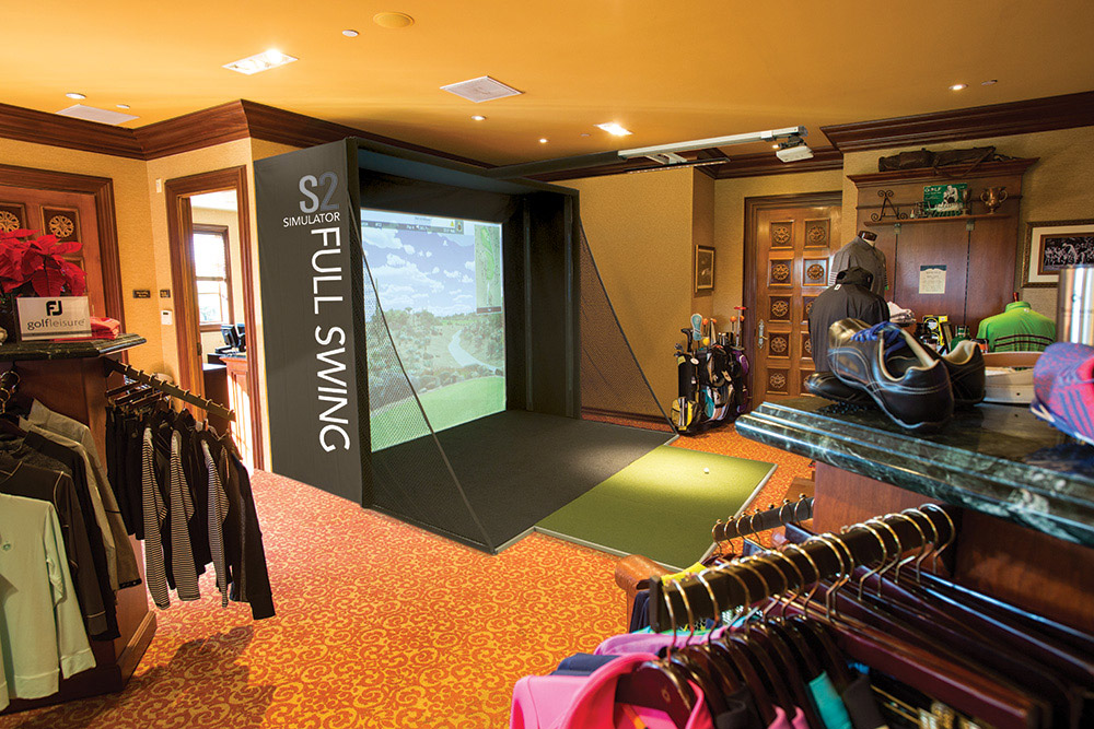 Full Swing Golf's S2 simulator, starting at $19,900, fullswinggolf.com