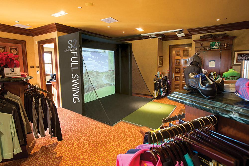 Full Swing Golf's S2 simulator, starting at $19,900, fullswinggolf.com
