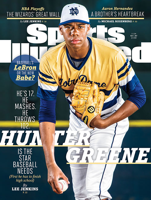 The latest high schooler to make it to the cover is Hunter Greene,