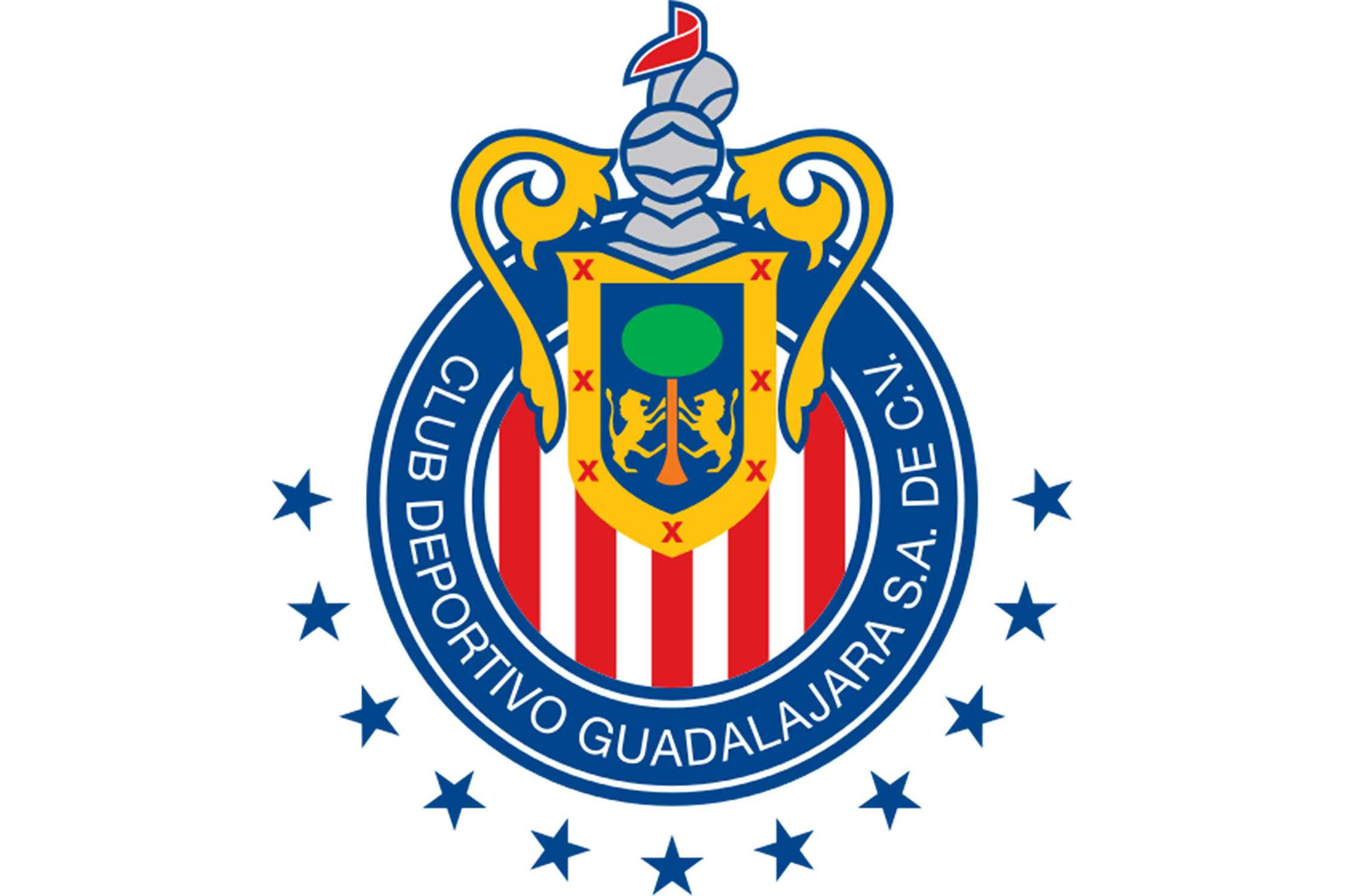 The crown and helmet come from the coat of arms of Guadalajara, granted to the city by Charles V in 1539. The red and white stripes are a reference to the flag of the Belgian city of Brugge, the hometown of club founder Edgar Everaert