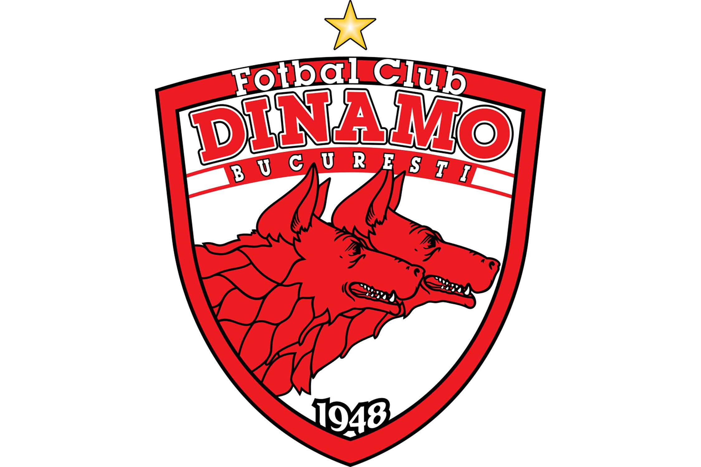 The two red dogs in the club's crest represent Radu and Ion Nunweiller, brothers who played for the club in the 1960s and 70s.