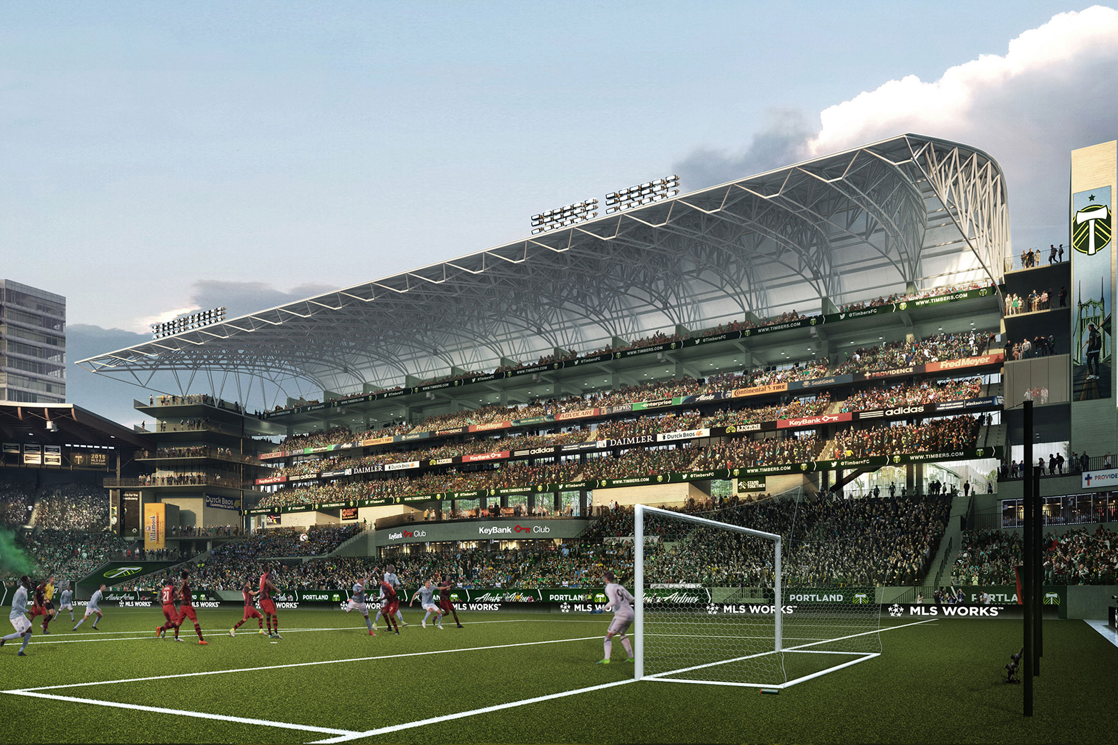 The Timbers are adding 4,000 seats as part of a $50 million renovation to Providence Park.