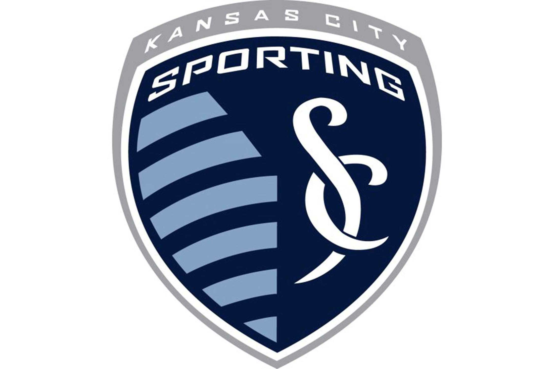 "Eleven stripes on one side of the logo represent eleven players on the soccer field. The ""SC"" on the other side stands for Sporting Club (the team's ownership group), and is designed to look like the snake-and-cross symbol seen in medical applications because many of the owners came from the health care industry. The two sides are separated by an angle representing the border between the states of Missouri and Kansas. Kansas City itself sits roughly right on the point of that angle."