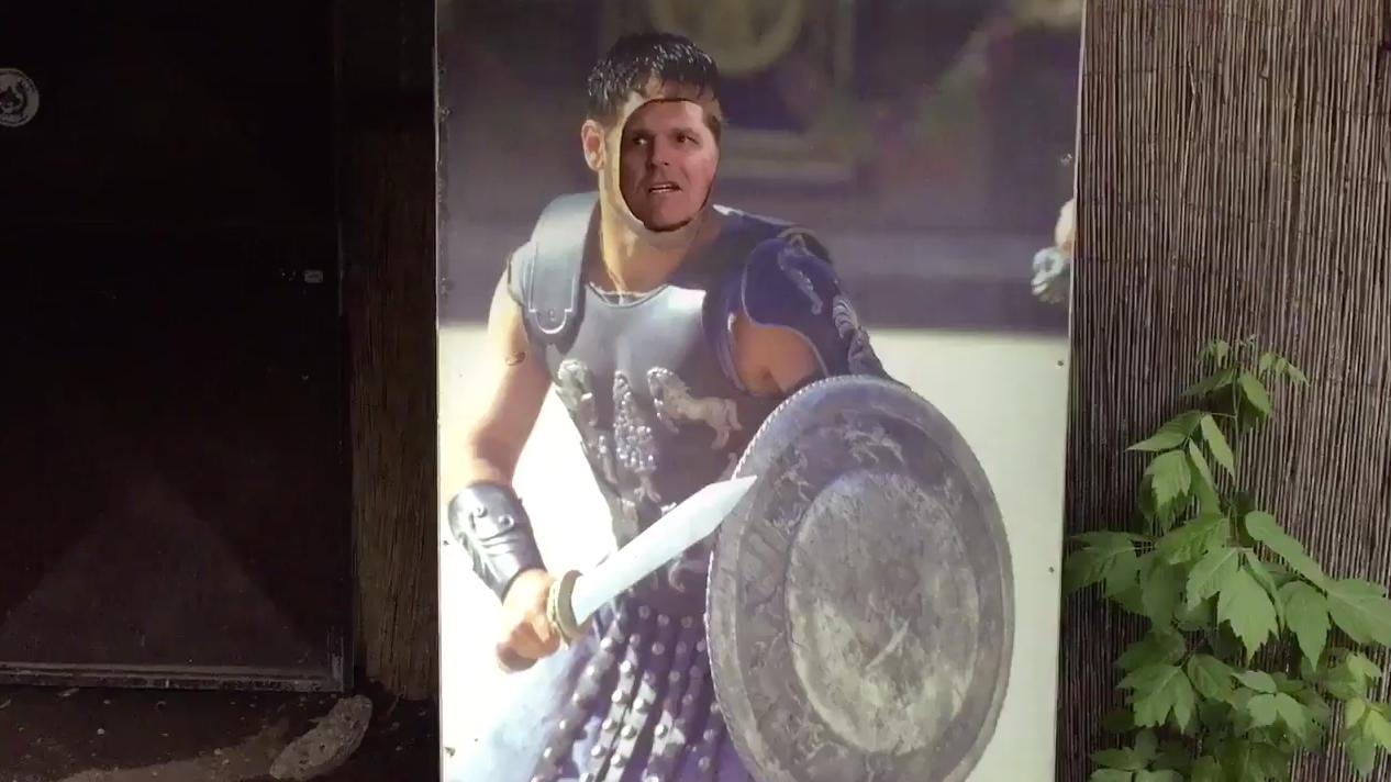 Videos: Jim Harbaugh plays 'Gladiator,' sings opera on his very strange Roman vacation