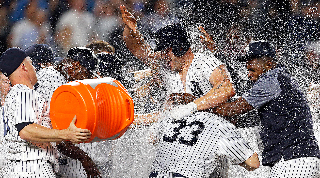 Image result for yankees 2017 walk off