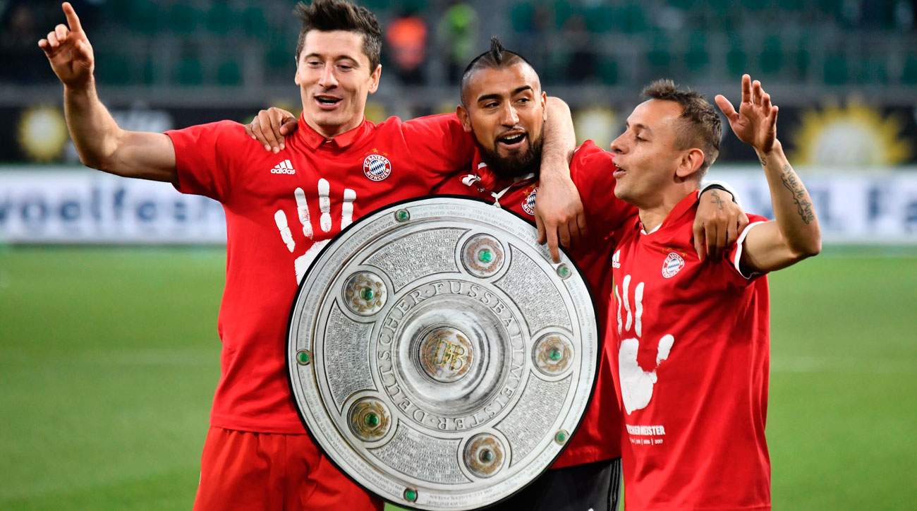 Bayern Munich won the Bundesliga title for a fifth straight time