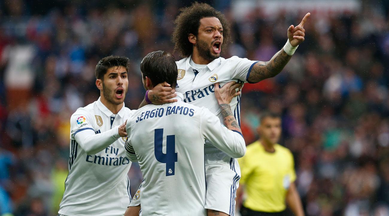 Marcelo scores Real Madrid's winner vs. Valencia