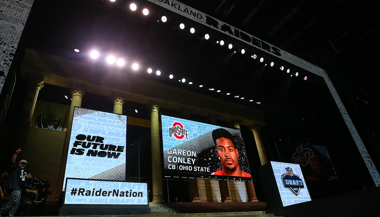The Raiders used their first-round pick on Gareon Conley, who was the subject of an unresolved sexual assault allegation in the days leading up to the draft.