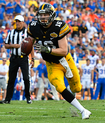 C.J. Beathard started at quarterback his final two seasons at Iowa and led the Hawkeyes to the Rose Bowl in 2015.