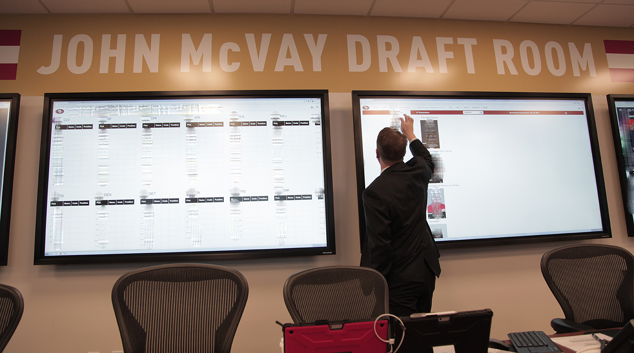 The 49ers draft room is named for John McVay, who worked in the front office for all five of San Francisco's Super Bowl-winning seasons.
