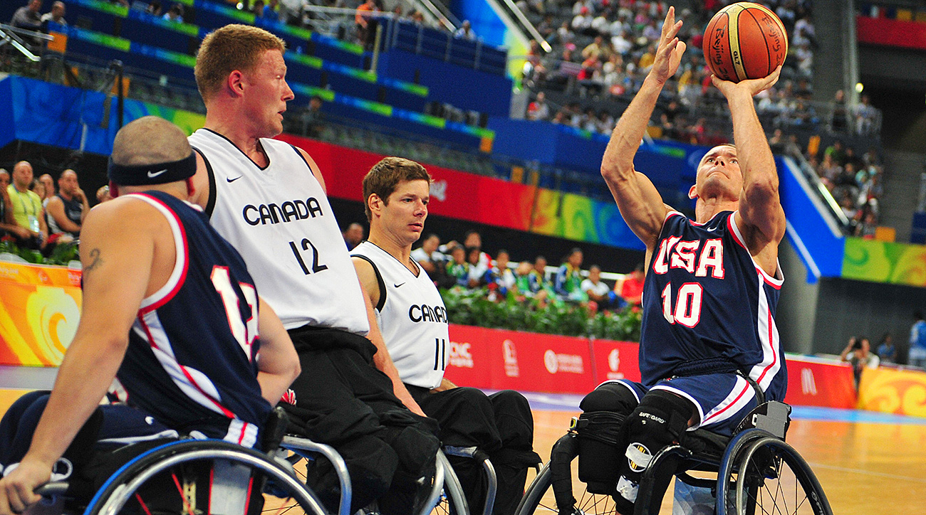 Glasbrenner (No. 10) called wheelchair basketball his 'happy place,' and went on to become a world champion.